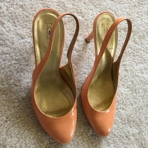 EUC J.CREW SLING SANDALS IN PEACH COLOR SIZE 7-7.5